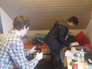 Hektische Szene - Luis und Marius